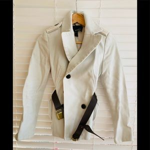 Mango Cream/Off White Suit Jacket Blazer